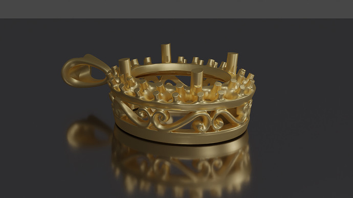 Alt View Yellow Gold Render After Denoise