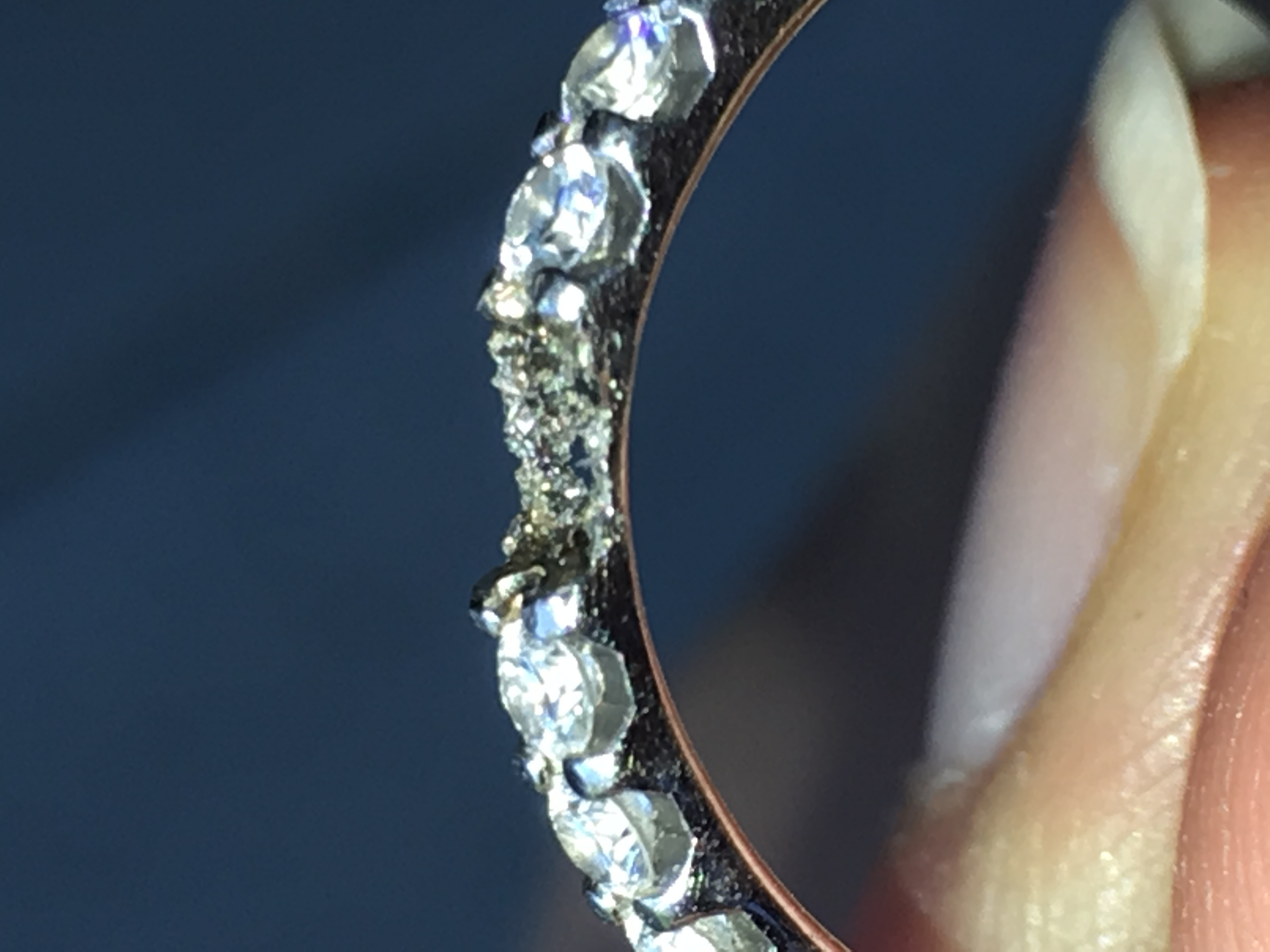 d93db55e97d4a Mounting broke off Platinum Ring. Shoddy Jeweler Work? Please review ...