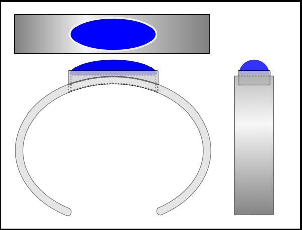 cuff w inset bezel diagram