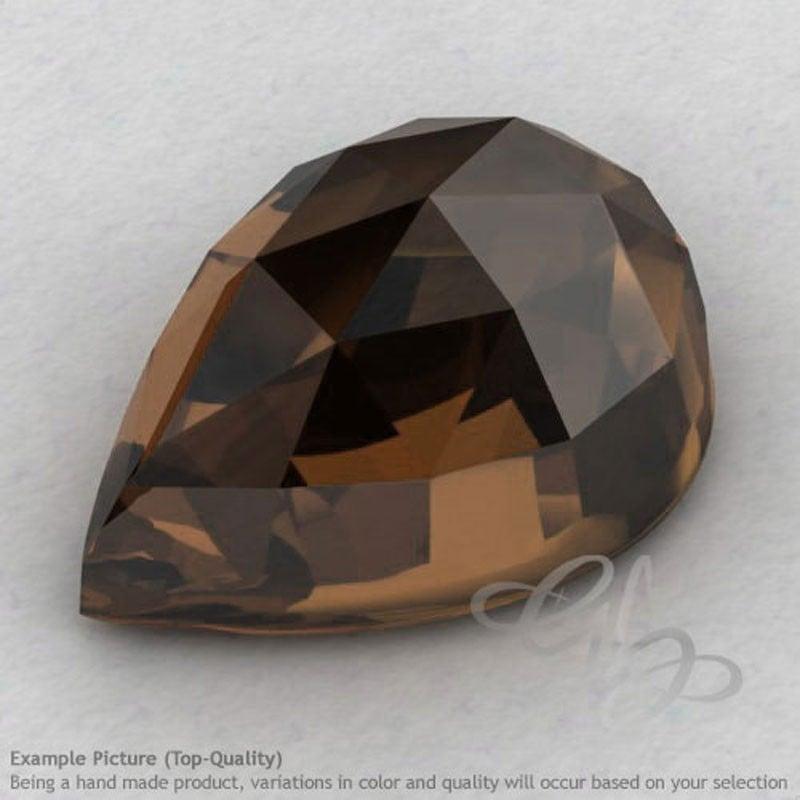 smoky-quartz-pear-shape-calibrated-cabochons